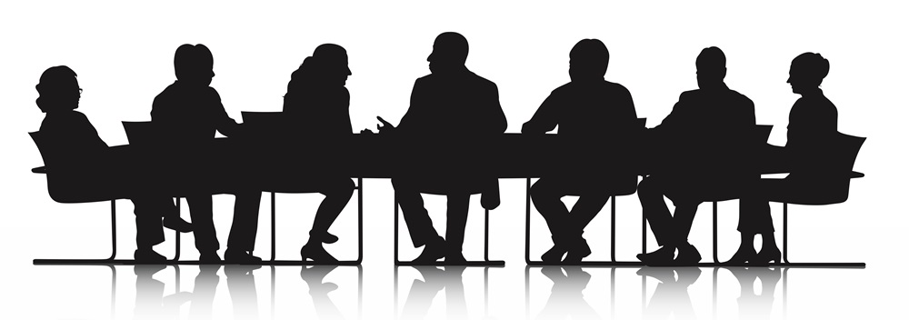 Business Teamworking at Meeting Table